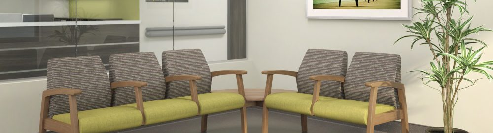 Photo of green and gray seating